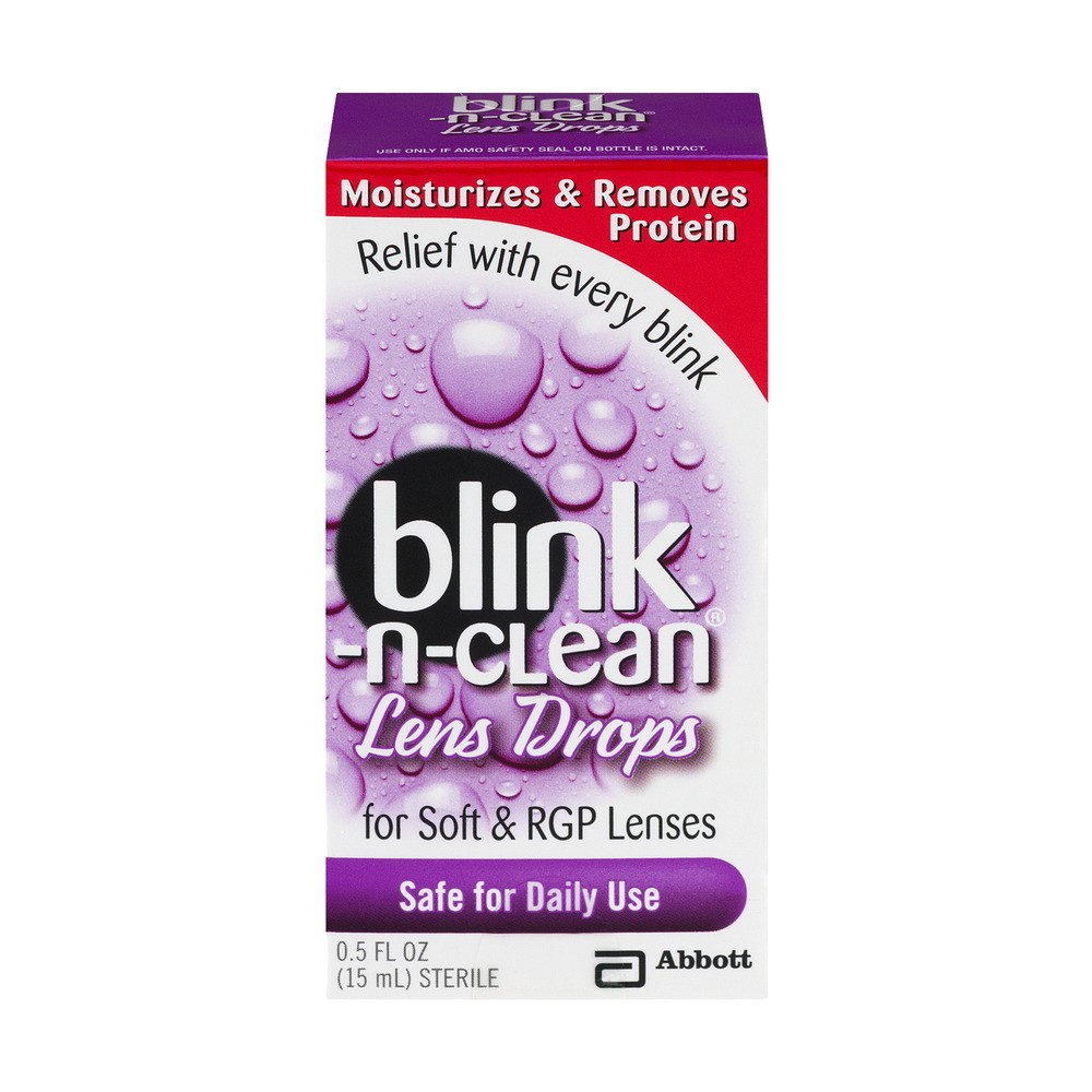 Abbott Blink-N-Clean Lens Drops, 0.5 Fl Oz/15 ml