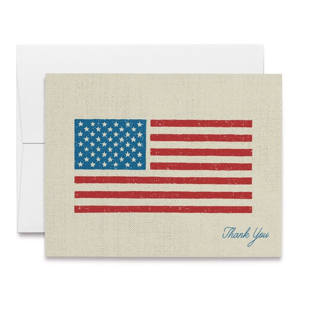 twigs paper  american flag thank you cards  set of 12