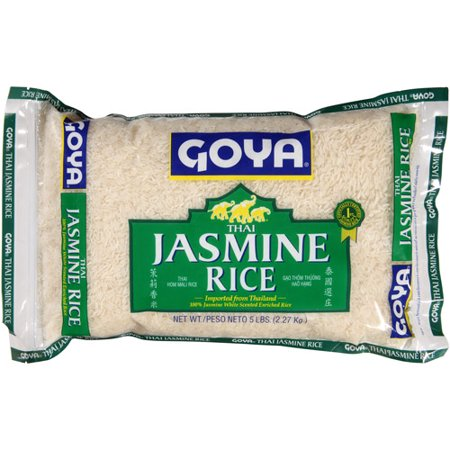 Goya Rice (Goya Thai Jasmine Rice, 5 lbs, (Pack of)