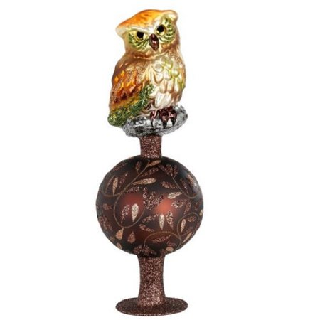 inge glas up in the tree tops owl bird german glass christmas tree topper new