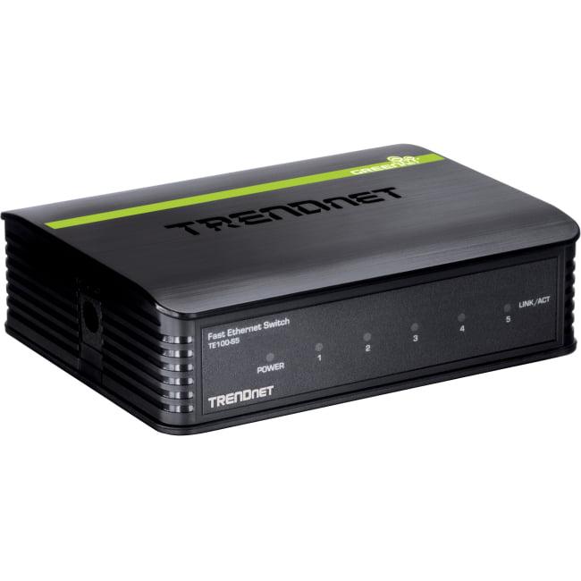TRENDnet TE100-S5 5-port Fast Ethernet Switch - 5 x 10/100Base-TX