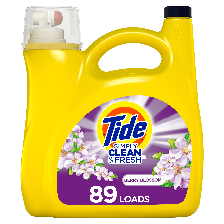 Tide Simply Berry, 89 Loads Liquid Laundry Detergent, 128 ...