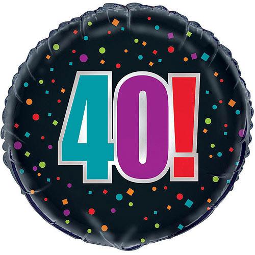 "18"" Foil 40th Birthday Cheer Balloon"