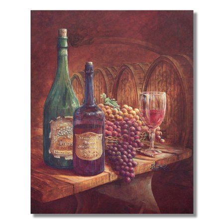 Grapes and Red Wine Kitchen Tuscan Contemporary Wall Picture 8x10 Art Print