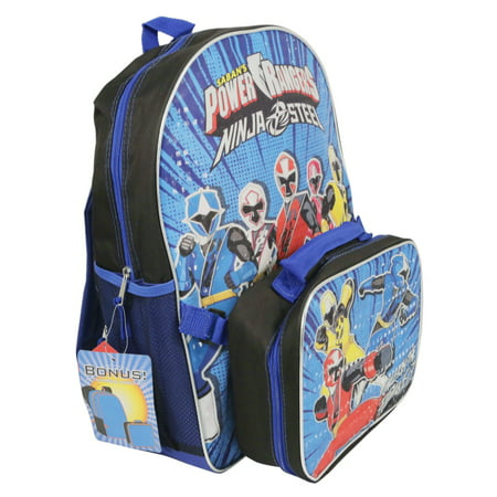 47c1e71cee6da9 Kid Play Products - Power Rangers Ninja Steel Backpack and Lunch Box Set  Blue for Back to School - Walmart.com
