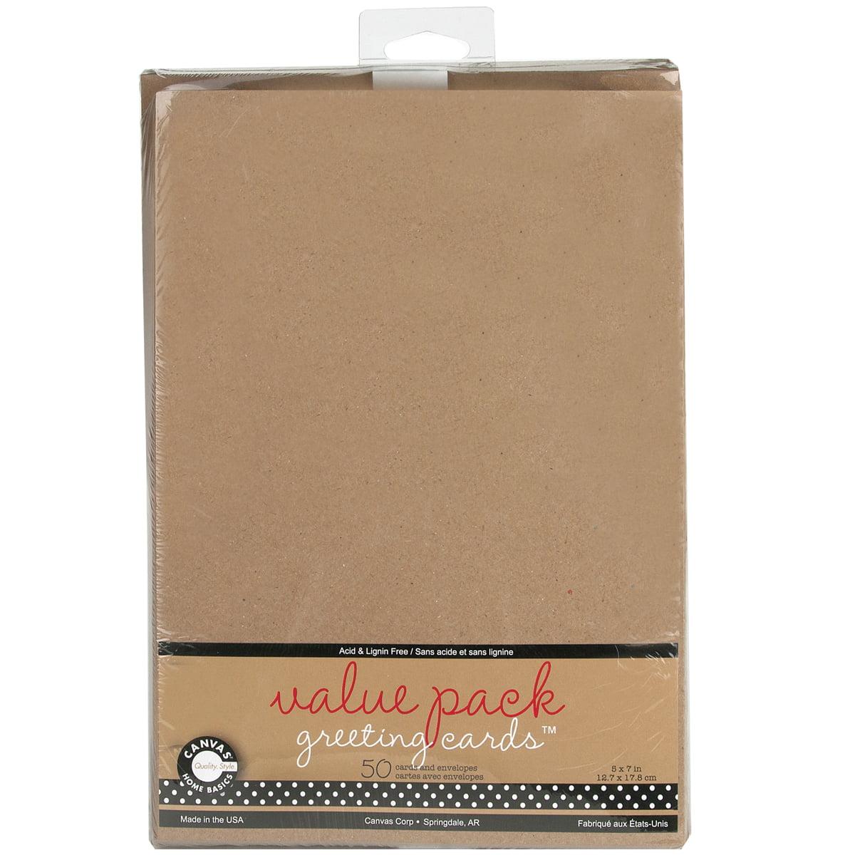 Value Pack Cards And Envelopes 5 X 7 50pkg Walmart
