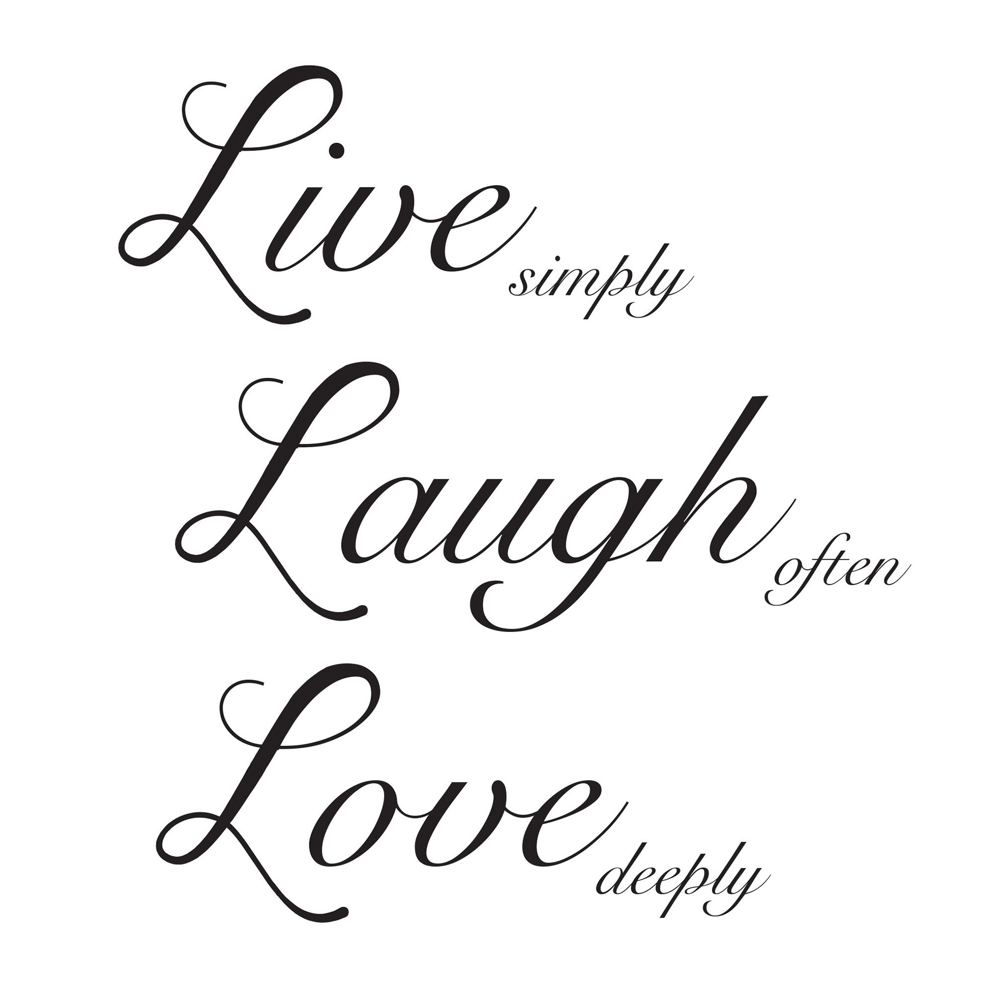 Wallpops Live Laugh Love Wall Quote