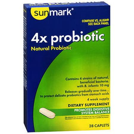 SunMark 4x Probiotic naturelles - 18 Caplets Probiotic caplets
