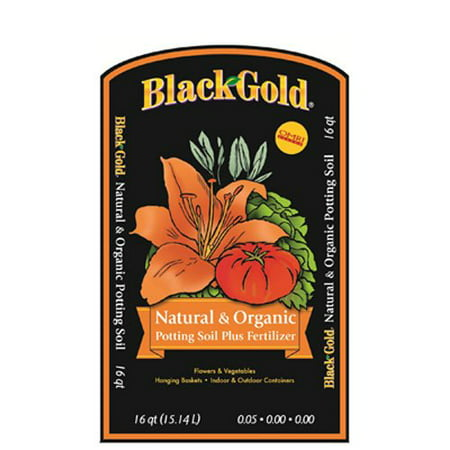 1302040 16-Quart All Organic Potting Soil, Ideal for all container-grown flowers, herbs and vegetables By Black