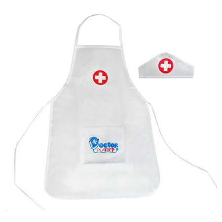 Children Pretend & Play Role Playing Costume Nurse Clothing for Kids - Apron + (Children's Nurse Costume Uk)