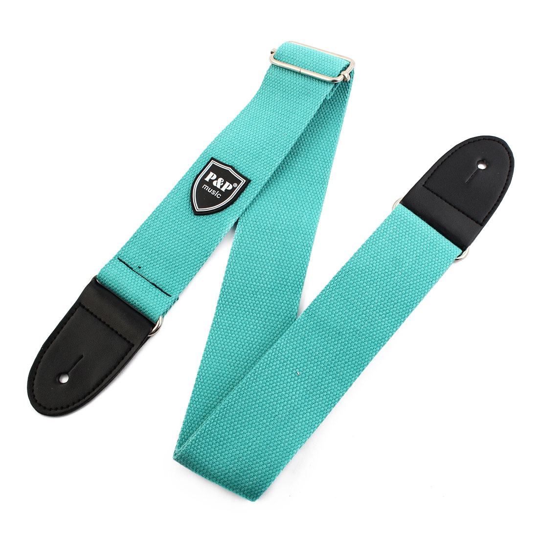 Nylon Braided Bass Belt Adjustable Electric Guitar Strap Teal 80-140cm Length