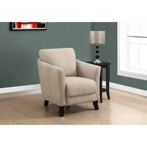 Light Taupe Microfiber Accent Chair