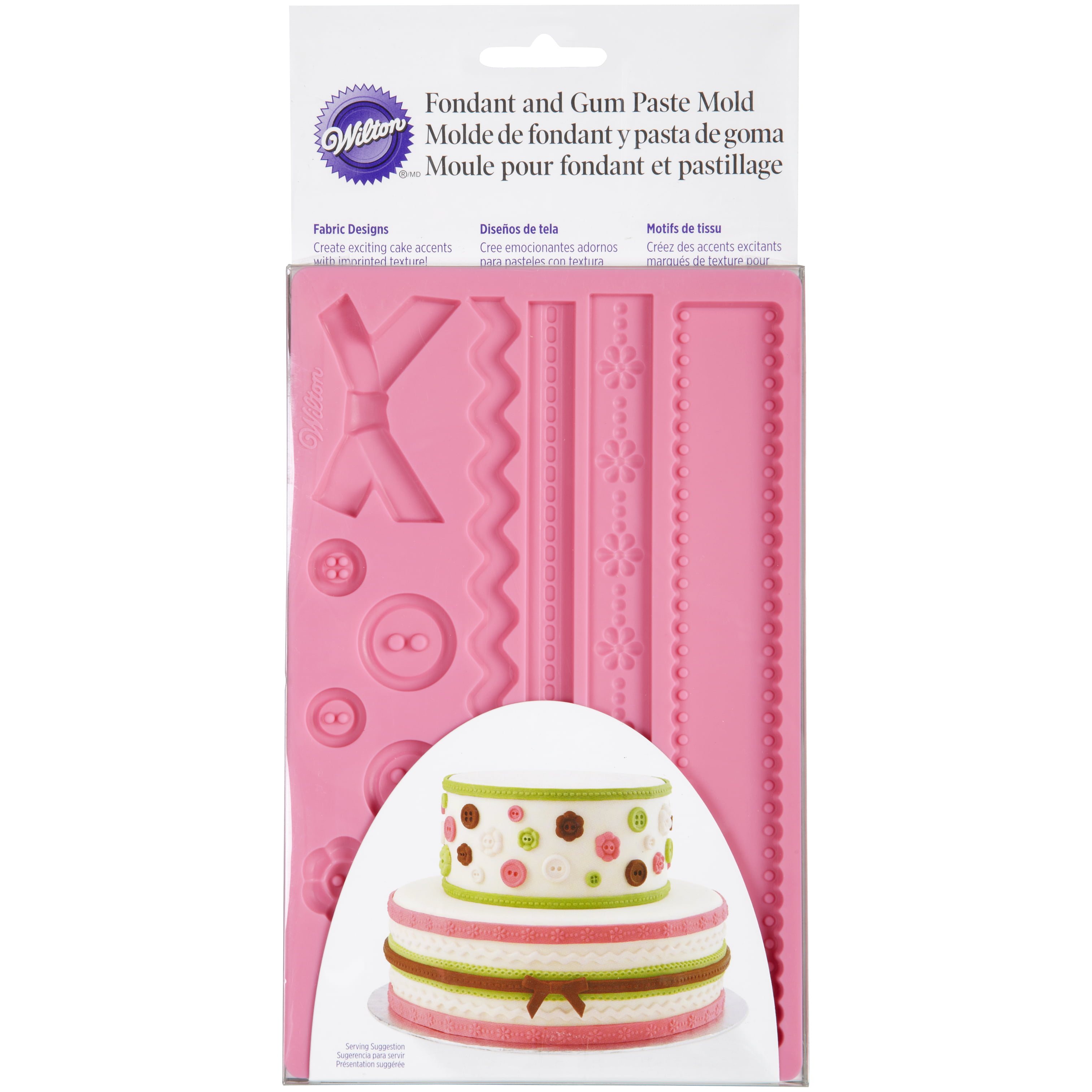 Wilton Ribbon and Fabric Fondant and Gum Paste Mold by Wilton