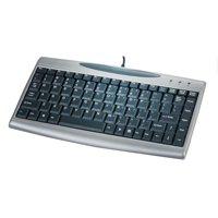 ACECAD Solidtek 88 Keys Mini Portable Keyboard with 2.0 USB HUB, Silver and Black