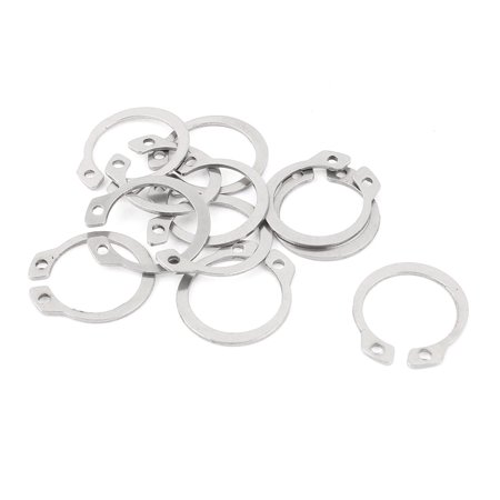 Unique Bargains 10pcs 304 Stainless Steel External Circlip Retaining Shaft Snap Rings 19mm