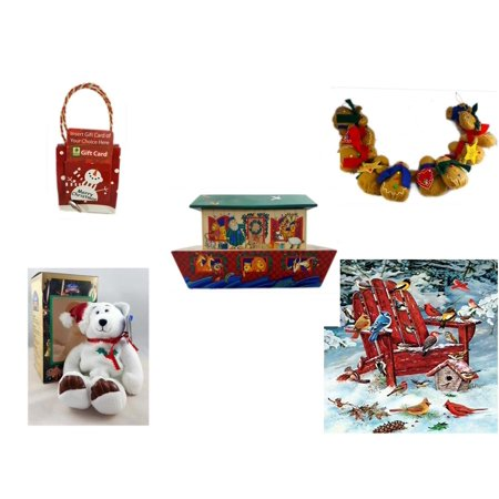 Christmas Fun Gift Bundle [5 Piece] - Musical Gift Card Holder Snowman - String of Gingerbread  w/ Wood Stars & Hearts 4.5' Feet  - Noah's Ark Card Storage Display Box Hallmark - Limited Treasures](Outdoor Limited Coupon)