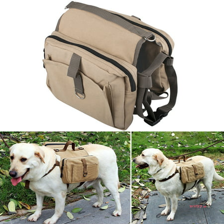 dog hiking backpack tactical dog backpack Vintage Design, Dog Packs Hound Travel Camping Hiking Tactical Dog Backpack Saddle Bag Rucksack for Medium & Large Dog, Khaki (Dog Backpack Ruffwear)