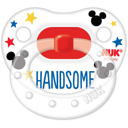 NUK Disney Mickey Mouse Silicone Orthodontic Pacifier, Set of 2, 6-18 Months