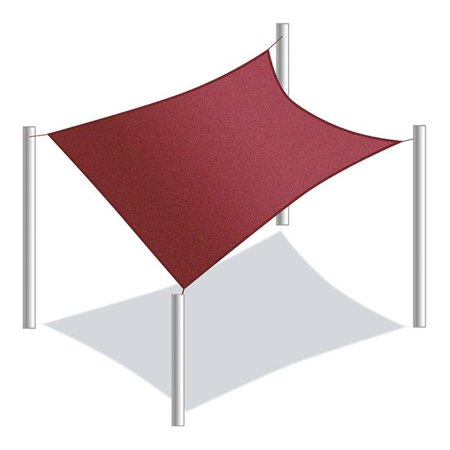 - 18 x 18 ft. Waterproof Sun Shade Sail Canopy Tent Replacement, Burgundy