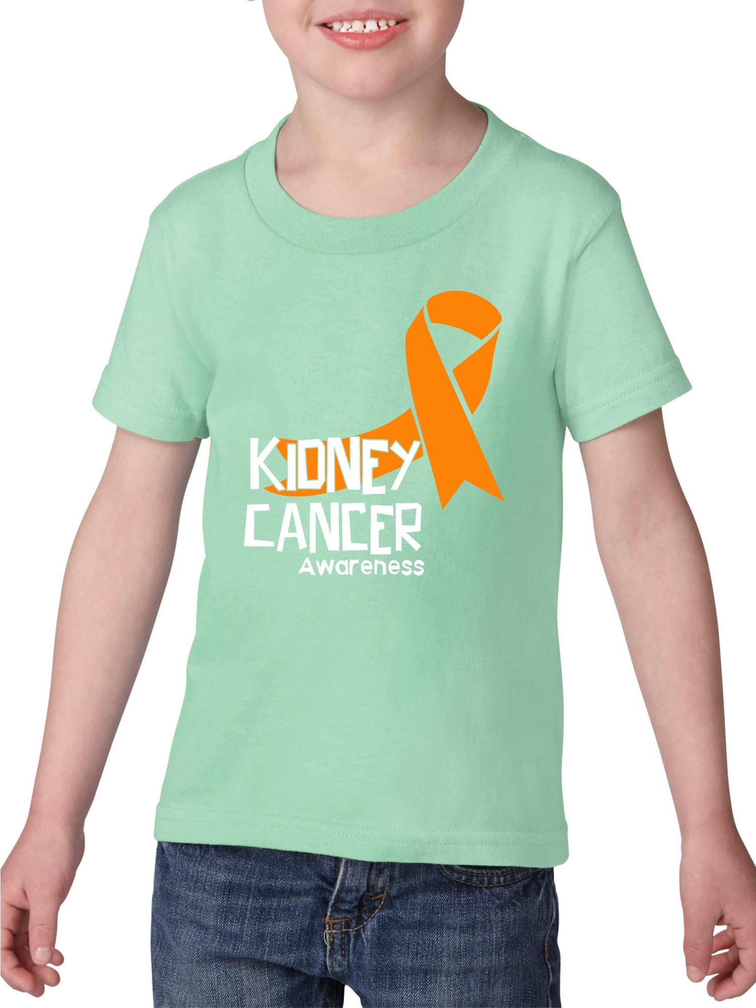 Kidney Cancer Awareness Heavy Cotton Toddler Kids T-Shirt Tee Clothing