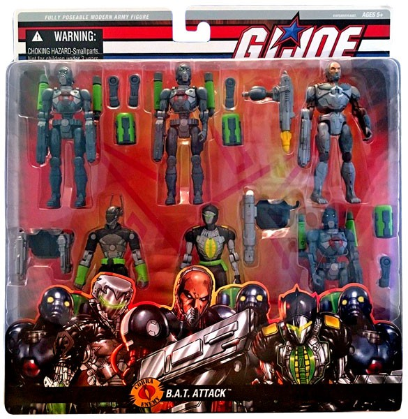 GI Joe Cobra B.A.T. Attack Action Figure Set by