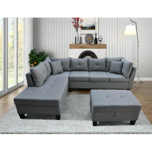 "SEGMART 3-piece Mid-Century Sectional Sofa Sets on Sale, 105"" x"