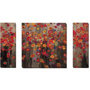 Artistic Home Gallery 'Parade and Garden Parade I & II' by Don Li-Leger 3 Piece Painting Print on Wrapped Canvas Set