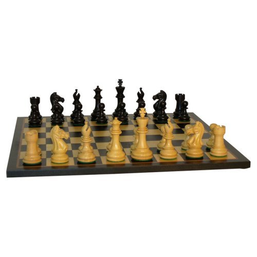 Black and Natural Boxwood Pro Chess Set