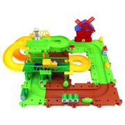 Happy Train Commander '13 Toy Train Car & Track Playset w/ Battery Operated Toy Train, Accessories