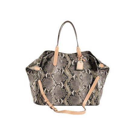 Cole Haan Crosby Snake Ironstone Leather Large Handbag Purse Bag (Cole Haan Leather Hobo Bag)
