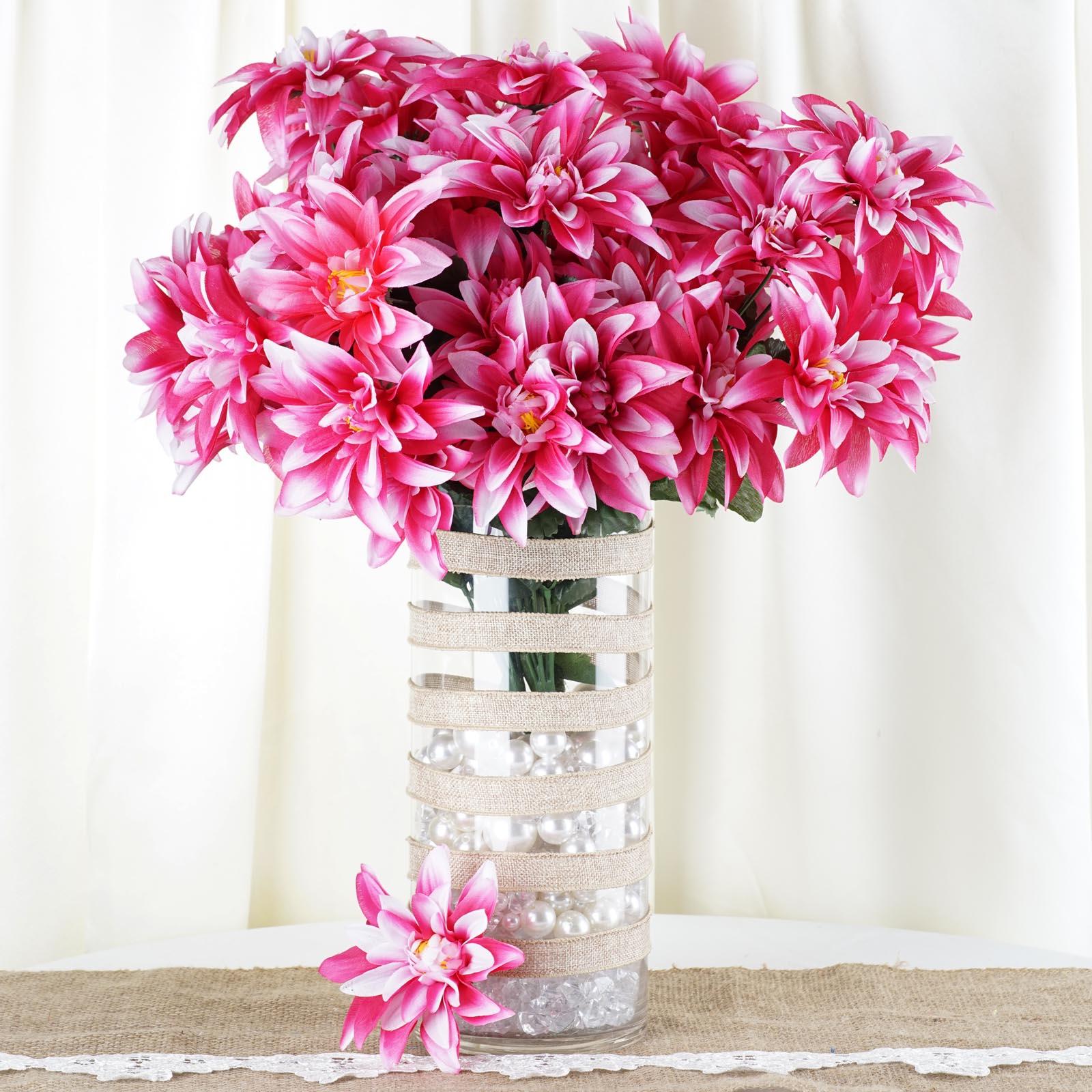 BalsaCircle 56 Silk Dahlia Artificial Flowers - DIY Home Wedding Party Bouquets Arrangements Centerpieces
