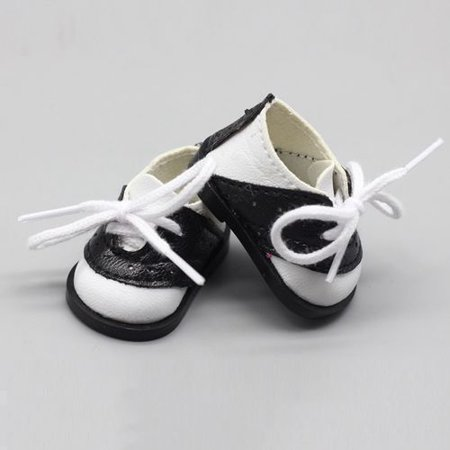 AkoaDa Black White Saddle Oxfords Style Perfect Doll Shoes Unique Shoes