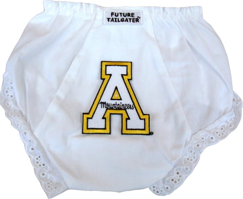 Appalachian State Mountaineer Eyelet Baby Diaper Cover by Future Tailgater