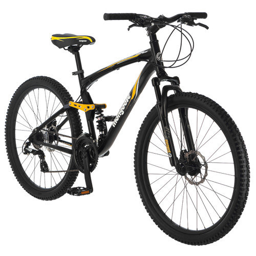 Mongoose Men's Stasis Expert 26'' Full Suspension Mountain Bike