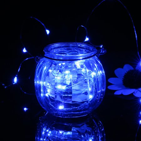 4.5V 6W 10 Meters 100 LED Fairy String Light Battery Powered Operated IP65 Water Resistance Twistable Bendable Flexible Blue for Christmas Xmas Festival Holiday Home Party Theme Restaurant Pub Bar De - image 3 de 7