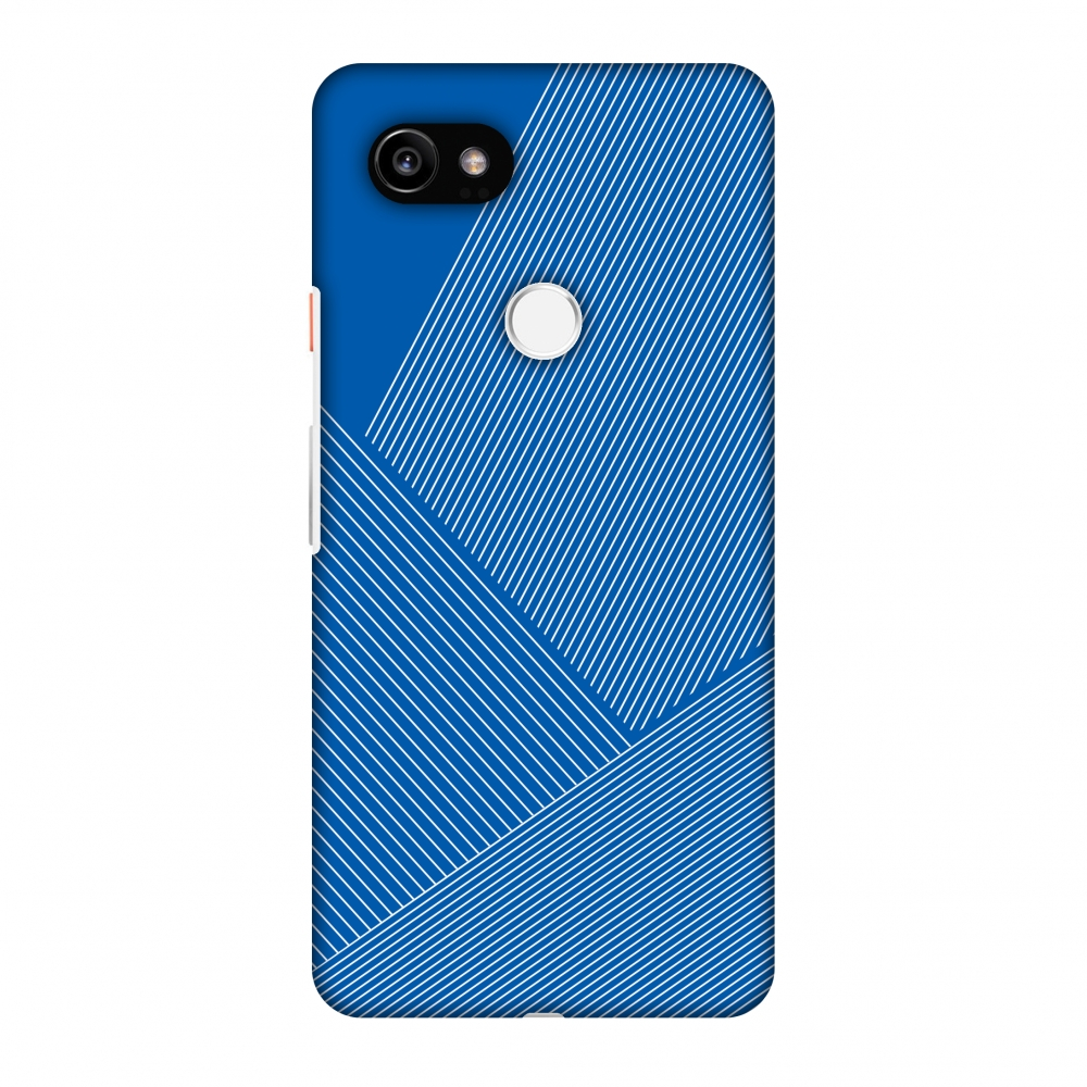 Google Pixel 2 XL Case, Premium Handcrafted Designer Hard Shell Snap On Case Printed Back Cover with Screen Cleaning Kit for Google Pixel 2 XL, Slim, Protective - Carbon Fibre Redux Coral Blue 1