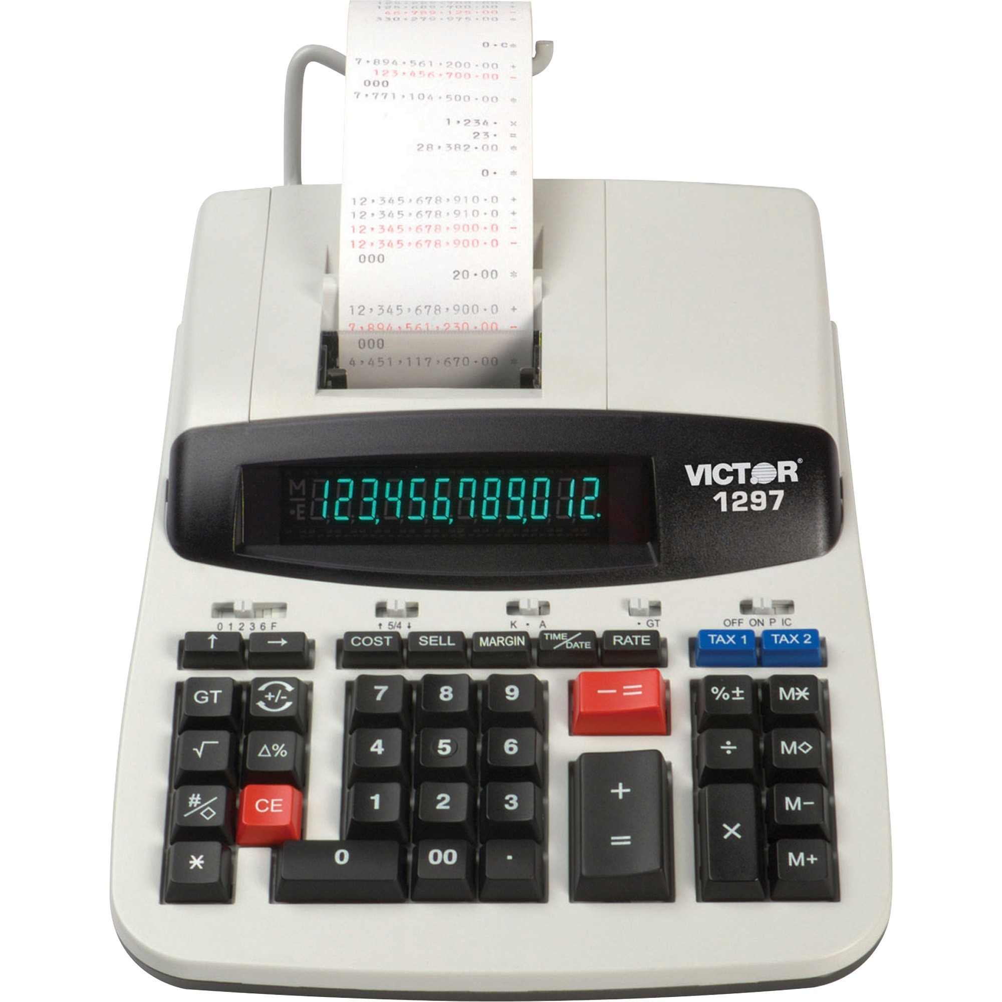 Victor, VCT1297, 1297 Commercial Calculator, 1 Each, White
