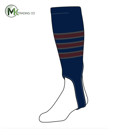TCK Baseball Stirrups Medium (200D, 5in) Navy, Graphite, (Maroon Baseball Stirrup)