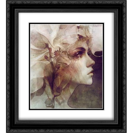 Petal 2x Matted 20x22 Black Ornate Framed Art Print by Dittman, Anna