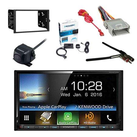 Kenwood DDX9703S 2-DIN DVD/CD/AM/FM Car Stereo Receiver w/Sirius Radio Tuner, Kenwood Rearview Wide Angle Camera, Metra 2DIN Dash Kit for Radio, Metra Antenna Adapter & Metra Radio Wiring