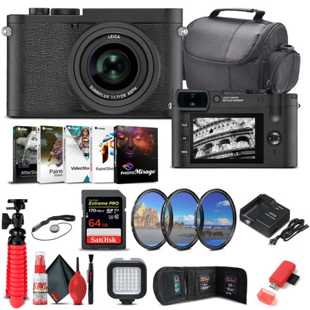 Leica Q2 Monochrom Digital Camera (19055) + 64GB Memory Card + More Bundle
