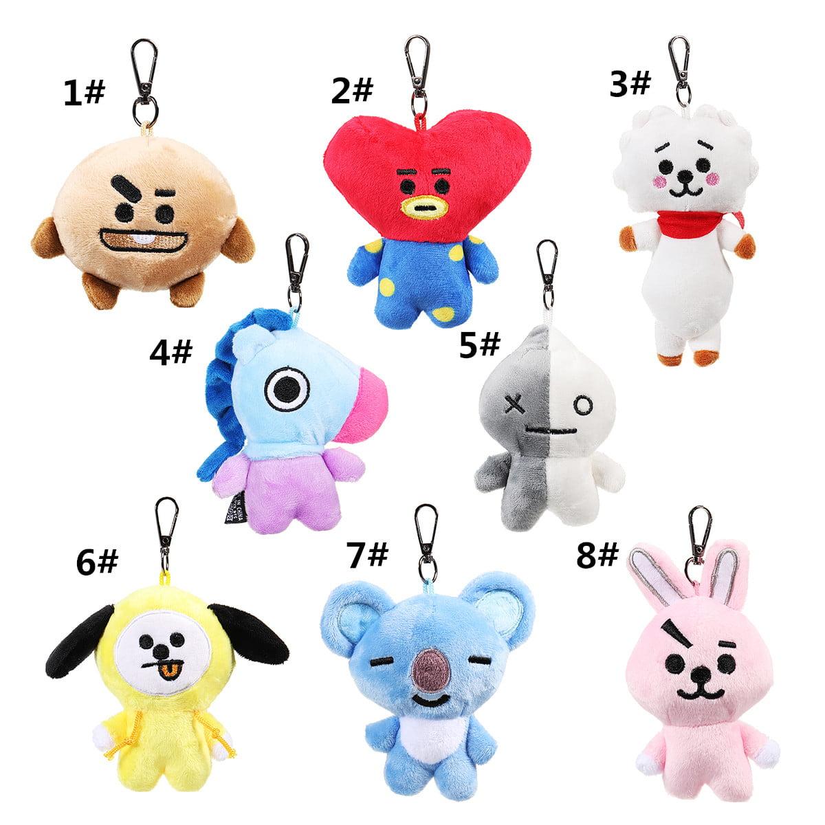 1b22e0af421 Mini Cute Soft Key Chain Plush Doll Keychain Car Keyring Toy For