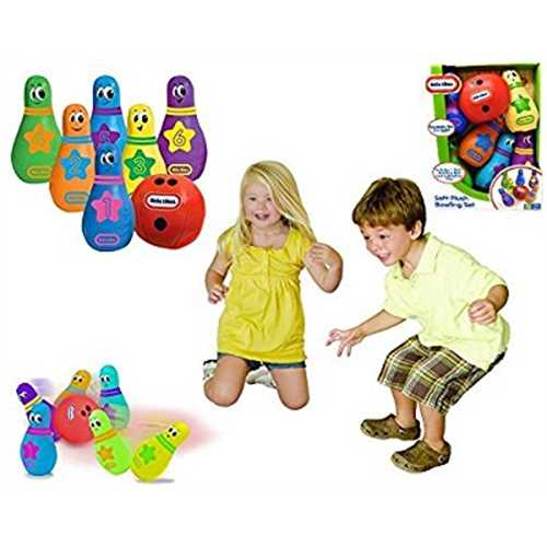 Little Tikes - SOFT BOWLING SET - Comes with 1 Soft Bowling Ball and Six Soft Pins.
