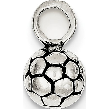 925 Sterling Silver Antiqued Soccer Ball (20x25mm) Pendant / Charm - image 2 of 2