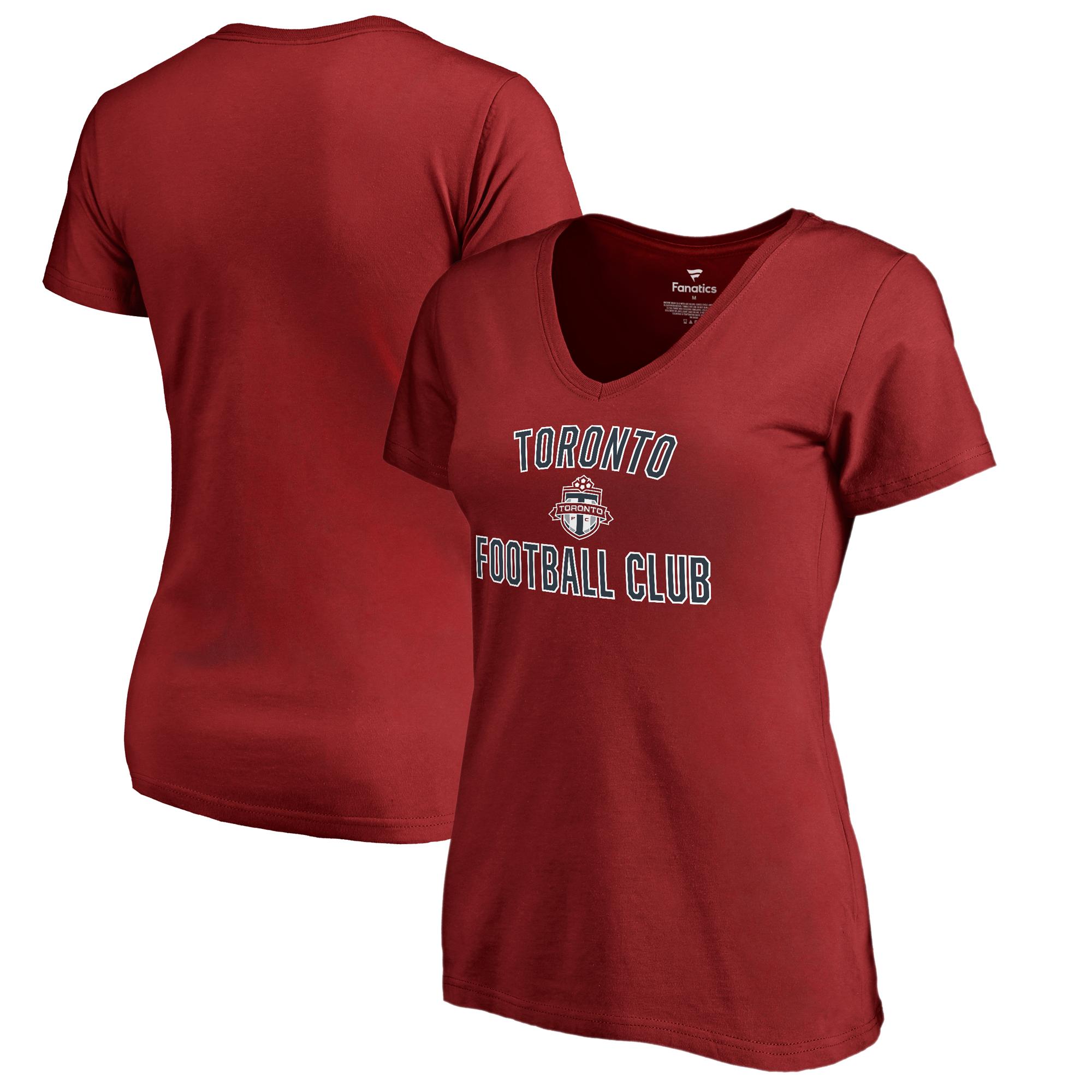 Toronto FC Fanatics Branded Women's Victory Arch V-Neck T-Shirt - Red