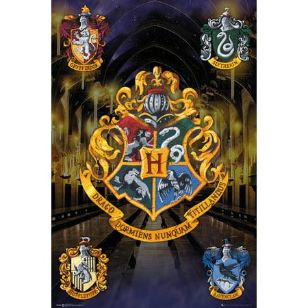 Harry Potter Image - Harry Potter - Movie Poster / Print (House Crests - Hogwarts, Gryffindor, Slytherin...) (Size: 24