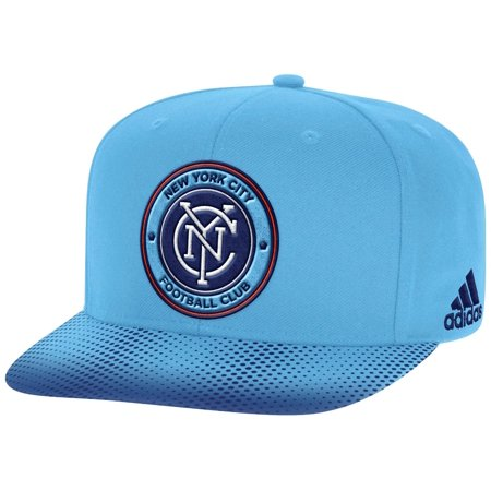 New York City FC Adidas MLS Sublimated Dot Embroidered Snap Back Hat Adidas Embroidered Gloves