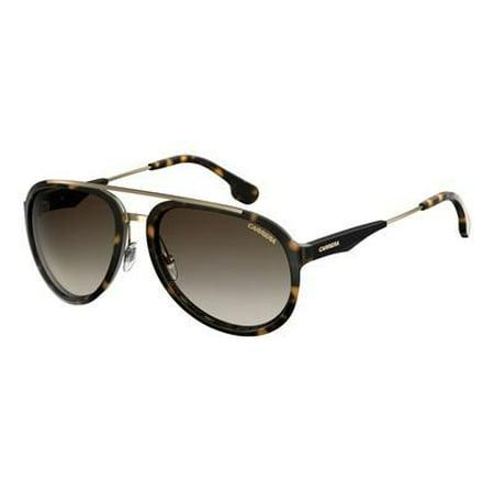 Carrera Men's Ca132s Aviator Sunglasses, Havana Gold/Brown Gradient, 57 mm (Havana Carrera)