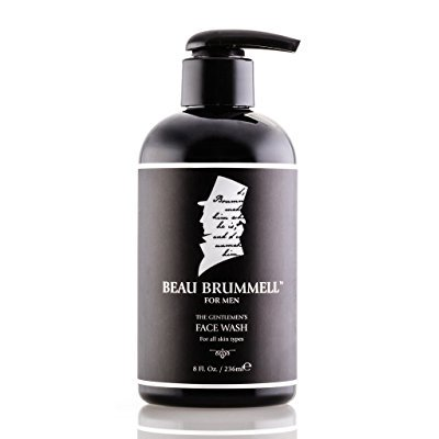 the gentlemen's face wash by beau brummell for men | an activated charcoal daily facial cleanser | expertly formulated skin care for men - 8 fl.