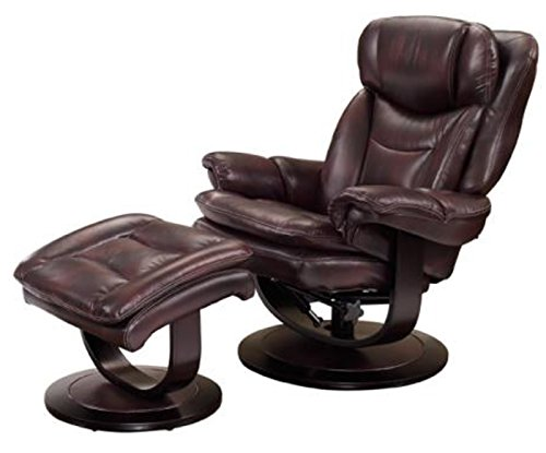 Barcalounger Roscoe 15 8039 Pedestal Chair And Ottoman   Plymouth Mahogany  3605 87